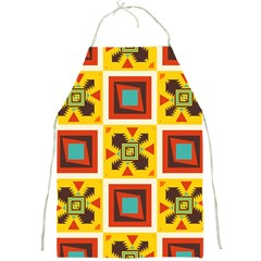 Retro Colors Squares Pattern                            full Print Apron by LalyLauraFLM