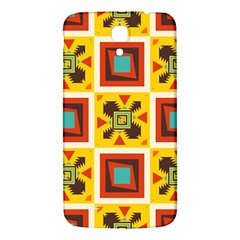 Retro Colors Squares Pattern                            			samsung Galaxy Mega I9200 Hardshell Back Case by LalyLauraFLM