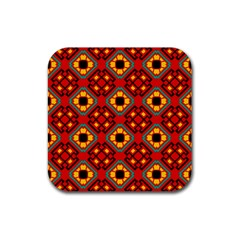 Flower Shapes Pattern                             			rubber Square Coaster (4 Pack by LalyLauraFLM