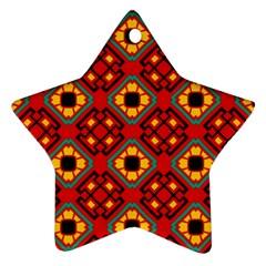 Flower Shapes Pattern                             ornament (star) by LalyLauraFLM