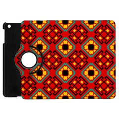Flower Shapes Pattern                             			apple Ipad Mini Flip 360 Case by LalyLauraFLM