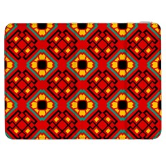 Flower Shapes Pattern                             samsung Galaxy Tab 7  P1000 Flip Case by LalyLauraFLM