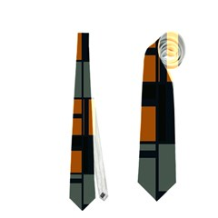 Rectangles In Retro Colors                              Necktie by LalyLauraFLM