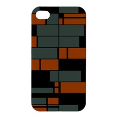Rectangles In Retro Colors                              Apple Iphone 4/4s Hardshell Case by LalyLauraFLM