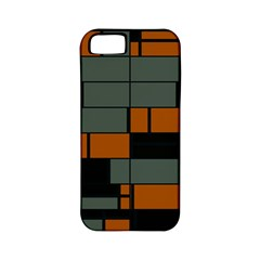 Rectangles In Retro Colors                              			apple Iphone 5 Classic Hardshell Case (pc+silicone) by LalyLauraFLM