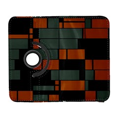 Rectangles In Retro Colors                              samsung Galaxy S Iii Flip 360 Case by LalyLauraFLM
