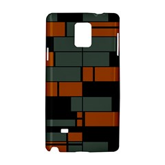 Rectangles In Retro Colors                              			samsung Galaxy Note 4 Hardshell Case by LalyLauraFLM