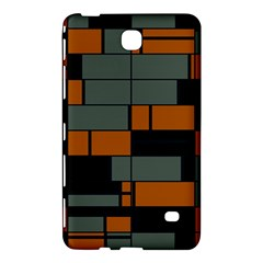 Rectangles In Retro Colors                              samsung Galaxy Tab 4 (8 ) Hardshell Case by LalyLauraFLM