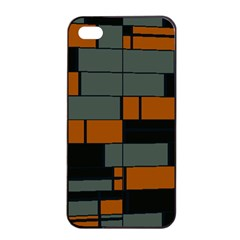 Rectangles In Retro Colors                              			apple Iphone 4/4s Seamless Case (black) by LalyLauraFLM
