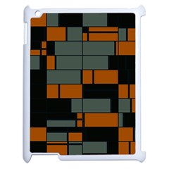 Rectangles In Retro Colors                              apple Ipad 2 Case (white) by LalyLauraFLM