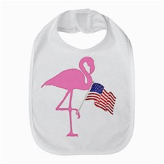 Flamingo American Flag Patriotic Bib