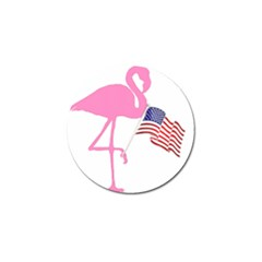 Flamingo American Flag Patriotic Golf Ball Marker (4 Pack) by CrypticFragmentsColors