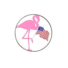 Flamingo American Flag Patriotic Hat Clip Ball Marker (10 Pack) by CrypticFragmentsColors