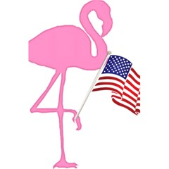 Flamingo American Flag Patriotic 5 5  X 8 5  Notebooks by CrypticFragmentsColors