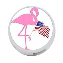 Flamingo American Flag Patriotic 4 Port Usb Hub (two Sides)  by CrypticFragmentsColors