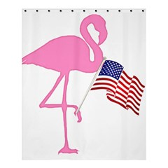 Flamingo American Flag Patriotic Shower Curtain 60  X 72  (medium)  by CrypticFragmentsColors