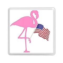 Flamingo American Flag Patriotic Memory Card Reader (square)