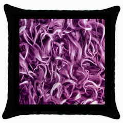 Textured Abstract Print Throw Pillow Case (black) by dflcprints