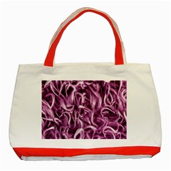Textured Abstract Print Classic Tote Bag (red) by dflcprints