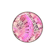 Pretty Pink Circles Curves Pattern Hat Clip Ball Marker (4 Pack) by CrypticFragmentsDesign