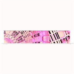 Pretty Pink Circles Curves Pattern Small Bar Mat by CrypticFragmentsDesign