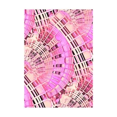 Pretty Pink Circles Curves Pattern Shower Curtain 48  X 72  (small) by CrypticFragmentsDesign