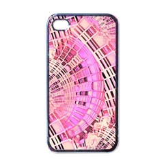 Pretty Pink Circles Curves Pattern Apple Iphone 4 Case (black) by CrypticFragmentsDesign