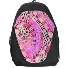 Pretty Pink Circles Curves Pattern Backpack Bag by CrypticFragmentsDesign
