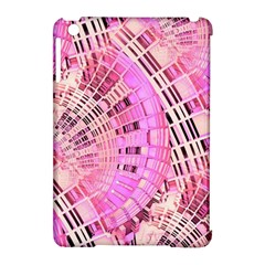 Pretty Pink Circles Curves Pattern Apple Ipad Mini Hardshell Case (compatible With Smart Cover) by CrypticFragmentsDesign