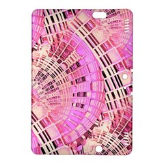 Pretty Pink Circles Curves Pattern Kindle Fire Hdx 8 9  Hardshell Case by CrypticFragmentsDesign