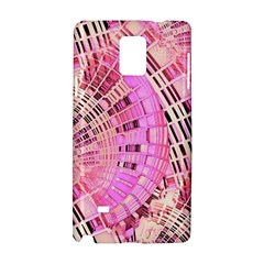 Pretty Pink Circles Curves Pattern Samsung Galaxy Note 4 Hardshell Case by CrypticFragmentsDesign