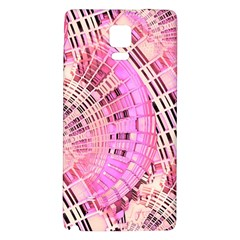 Pretty Pink Circles Curves Pattern Samsung Note 4 Hardshell Back Case by CrypticFragmentsDesign