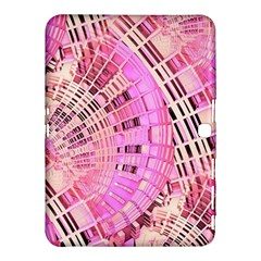 Pretty Pink Circles Curves Pattern Samsung Galaxy Tab 4 (10.1 ) Hardshell Case  by CrypticFragmentsDesign
