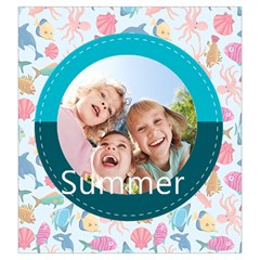 Summer Time By Summer Time    Drawstring Pouch (large)   65aa2bf0wdzn   Www Artscow Com Front