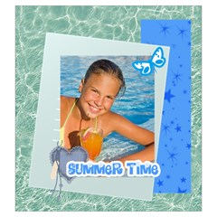 Summer Time By Summer Time    Drawstring Pouch (large)   Wm1s8qep42yh   Www Artscow Com Back