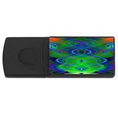 Neon Night Dance Party Usb Flash Drive Rectangular (4 Gb)  by CrypticFragmentsDesign