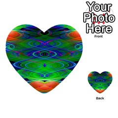 Neon Night Dance Party Multi Purpose Cards (heart)  by CrypticFragmentsDesign