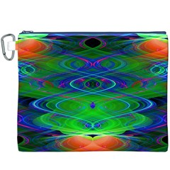 Neon Night Dance Party Canvas Cosmetic Bag (XXXL)  by CrypticFragmentsDesign