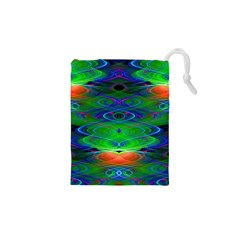 Neon Night Dance Party Drawstring Pouches (xs)  by CrypticFragmentsDesign