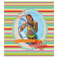 Summer Time By Summer Time    Drawstring Pouch (large)   Fe3eqeuepmtr   Www Artscow Com Front
