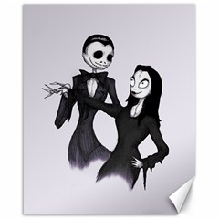 Jack & Sally Addams  Canvas 16  X 20   by lvbart