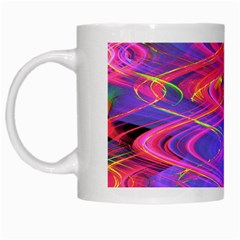 Neon Night Dance Party Pink Purple White Mugs by CrypticFragmentsDesign