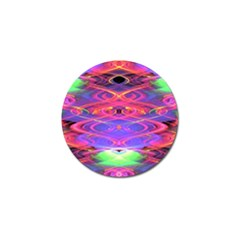 Neon Night Dance Party Pink Purple Golf Ball Marker (4 Pack) by CrypticFragmentsDesign