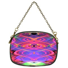Neon Night Dance Party Pink Purple Chain Purses (one Side)  by CrypticFragmentsDesign