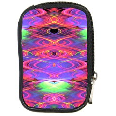 Neon Night Dance Party Pink Purple Compact Camera Cases by CrypticFragmentsDesign