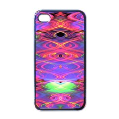 Neon Night Dance Party Pink Purple Apple Iphone 4 Case (black) by CrypticFragmentsDesign