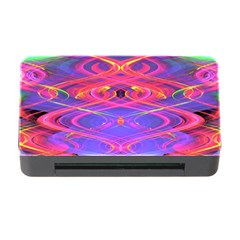 Neon Night Dance Party Pink Purple Memory Card Reader With Cf by CrypticFragmentsDesign