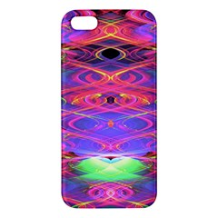 Neon Night Dance Party Pink Purple Apple Iphone 5 Premium Hardshell Case by CrypticFragmentsDesign