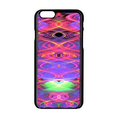 Neon Night Dance Party Pink Purple Apple Iphone 6/6s Black Enamel Case by CrypticFragmentsDesign