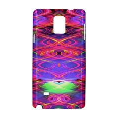 Neon Night Dance Party Pink Purple Samsung Galaxy Note 4 Hardshell Case by CrypticFragmentsDesign